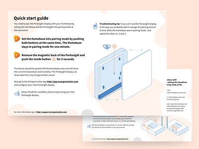 Quick star guide - Energomonitor vector design illustration technical guide print design print