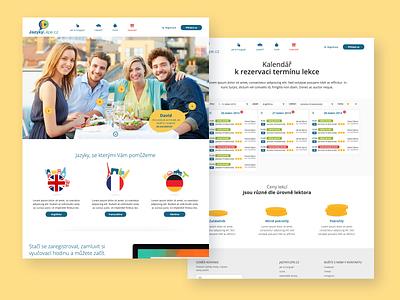 JazykyLepe language design ui ux website design web design webdesign website web