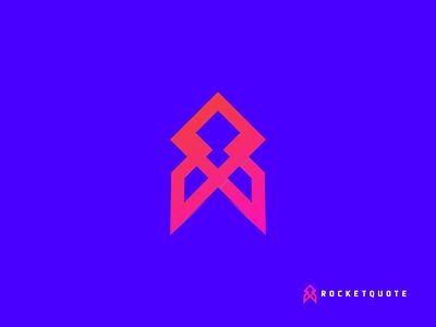 RocketQuote 2d modernlogo brand logo design vector branding logo graphic design modern colorfullogo brandidentity abstractlogo minimal