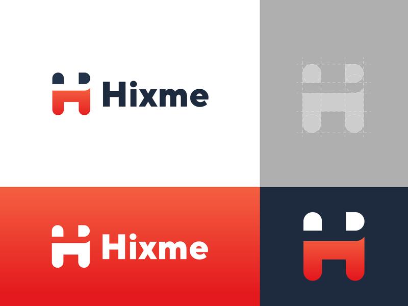 hixme vector modern minimal abstract logo logo mark identity design brand design brand identity bank app logo app icon financial h letter logo