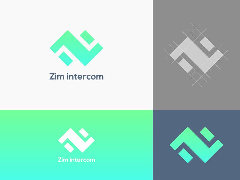 zim intercom brand logo design modern graphic design minimal branding concept brand identity brand design 2020 design logobranding unique simple branding sim internet