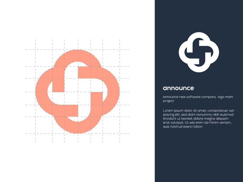 announce vector logo design graphic design modern minimal icon logo new brand identity brand design top logo new company logotype full branding abstract logo logo mark announcement new sofware announce