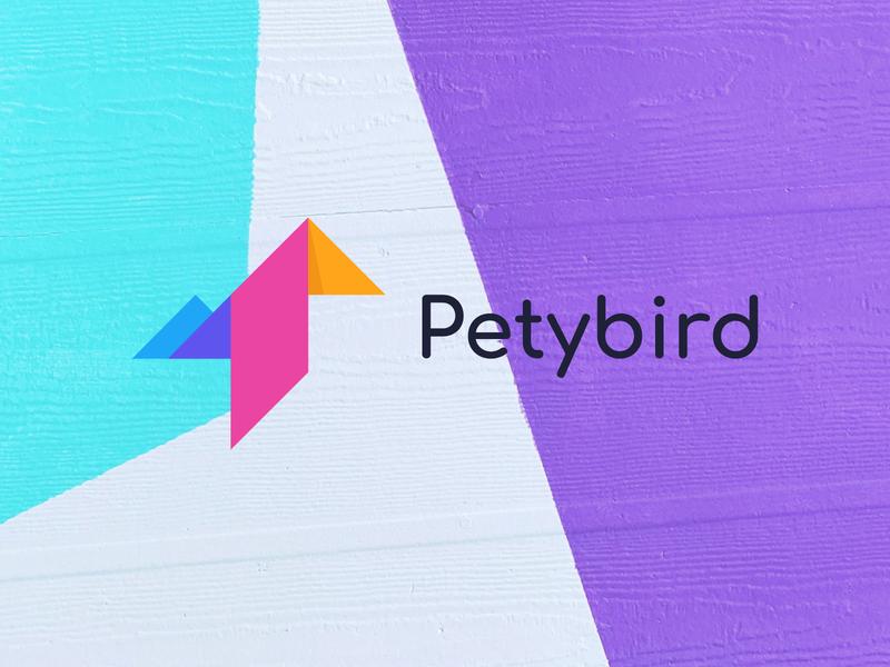 petybird logo design brand identity bird simple lgo flat bird bird logo petybird