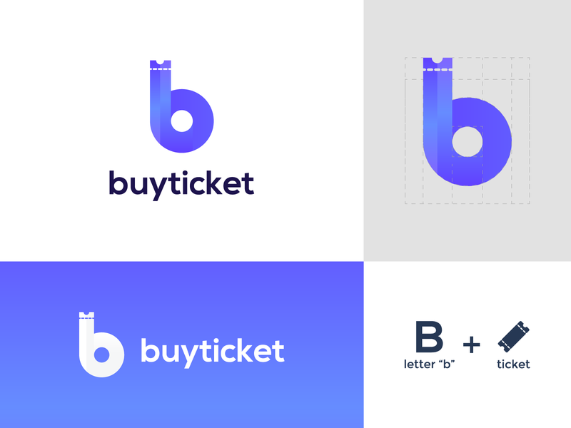buy ticket typography vector brand logo design brand identity brand design modern minimal buy tickets b letter buy ticket app logo tickets buy ticket ticket