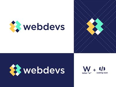 webdebs design icon typography branding modern brand graphic design minimal logo design webdevelopment developer website