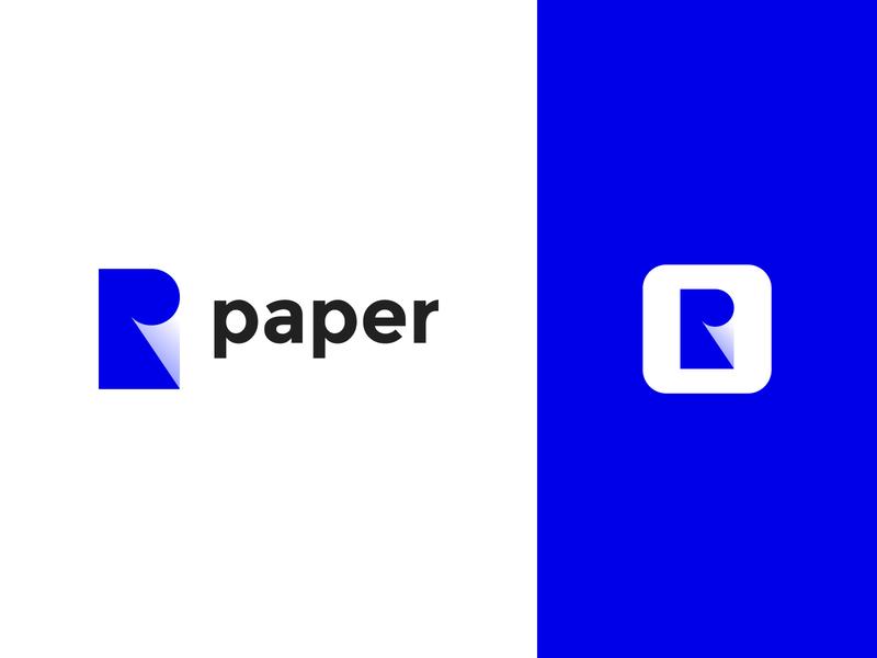 paper logo design logo p logo drsign branding design logo nagative space paper logo