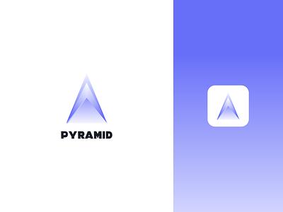 pyramid icon typography design logo branding brand graphic design logo design minimal modern