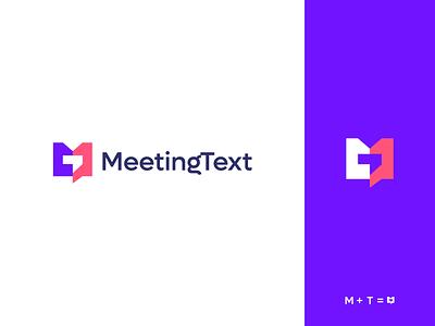 meeting text modern brand logo design branding logo text meeting