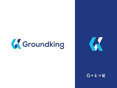 Groundking typography brand branding graphic design logo design minimal modern design brand identity logo groundtee
