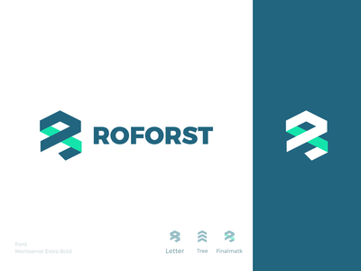 Rejected Logo (ROFORST) design illustration bold vector logo branding brand graphic design logo design minimal modern