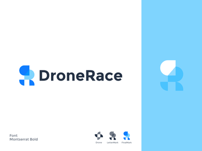 DroneRace lettermarks dronerace brand identity minimal typography design modern graphic design brand logo design branding lettermark logo lettermark