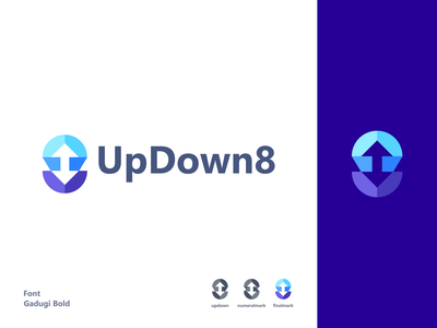 UpDown8 bold design icon brand identity logo branding brand graphic design logo design minimal modern 8