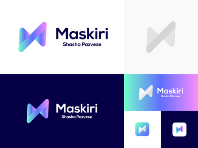Maskiri logo concept training center training brand graphic design logo design minimal modern