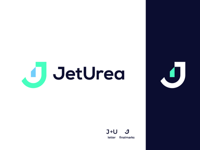JetUrea brand identity bold vector logo branding brand graphic design logo design minimal modern letter mark logos letter mark unused