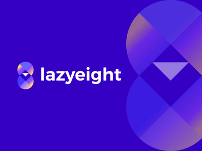 lazy eight gradient design logo branding brand identity digit eight brand graphic design logo design minimal modern gradient