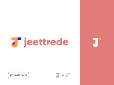 jeettrede design letter t letter j logo brand identity logo branding brand graphic design logo design minimal modern jeettrede