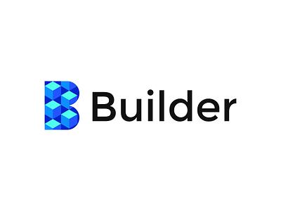 Builder typography identity brand identity branding brand graphic design logo design minimal logo modern builder logo