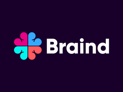 Braind design logo typography illustration brand brand identity branding graphic design modern logo design minimal