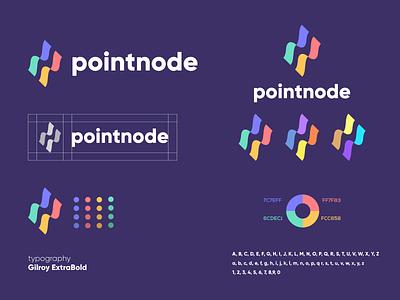 pointnode Brand Identity Guidelines vector design illustration logo branding graphic design logo design brand identity brand minimal modern