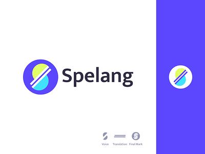 Spelang icon bold logo brand identity branding brand graphic design logo design minimal modern