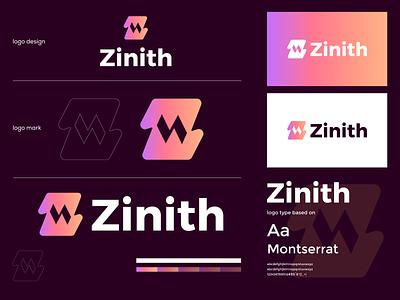 ZInith branding negative space design illustration brand logo branding graphic design logo design modern minimal