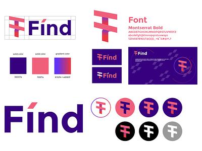 Fínd logo branding (approved) logotype logos f logo design brand branding graphic design logo design minimal modern logo