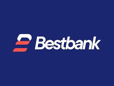 Bestbank logo redesign brand modern minimal logo design redesign branding logo graphic design