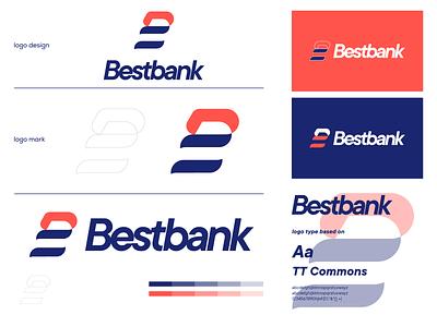 Bestbank brand identity b logo ui illustration logo design brand branding bestbank graphic design minimal logo design modern