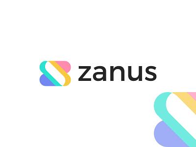 zanus logo design minimal modern branding graphic design brand logo design logo zanus logo