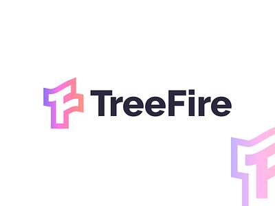 TreeFire logo design logo brand branding letter fire tree treefire graphic design minimal logo design modern