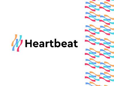 heartbeat logo design logo brand branding graphic design logo design modern minimal beat heart