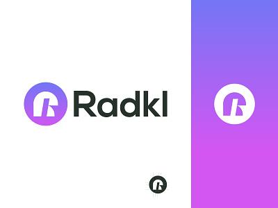 Radkl logo design technology financial business currency crypto illustration design logo branding brand graphic design logo design minimal modern