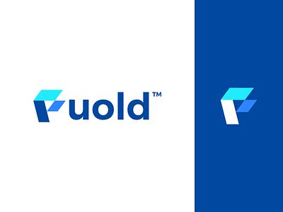 Fuold Logo design 3d 2d f mark fould design logo branding brand graphic design logo design minimal modern illustration