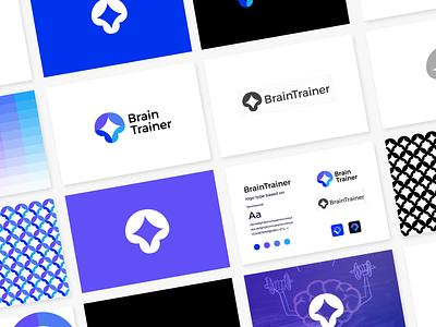 BrainTrainer logo guideline motion graphics animation 3d trainer brain ui illustration design logo branding brand graphic design logo design minimal modern