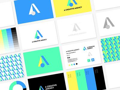 A Creative Agency logo guideline 2d motion graphics 3d animation creative agency ui illustration design logo branding brand graphic design logo design minimal modern