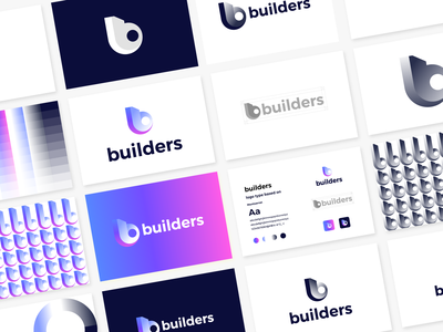 builders logo guideline bulding b logo builders ui illustration modern design logo branding brand graphic design logo design minimal