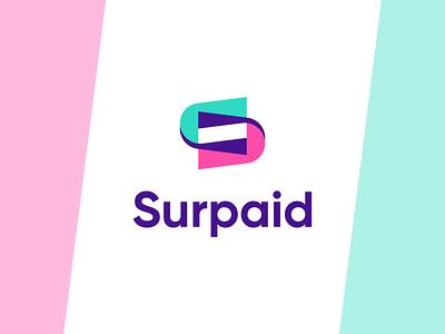 Surpaid logo surpaid paid 3d motion graphics animation ui illustration design logo branding brand graphic design logo design minimal modern