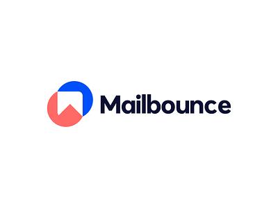 mailbounce logo design motion graphics ui animation 3d mark m mark bounce mail identy illustration logo branding brand graphic design logo design modern minimal