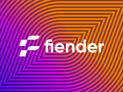 fiender logo design logo branding f mark f logo fiender ui illustration logo design branding brand graphic design logo design minimal modern