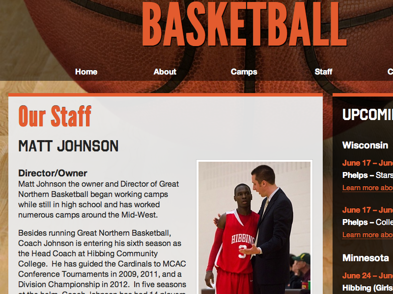 Great Northern Basketball orange