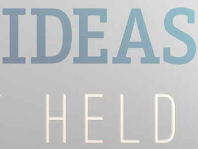Strong Ideas, Loosely Held desktop works