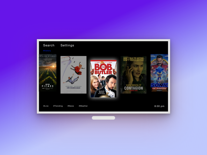 Daily UI 25 TV App