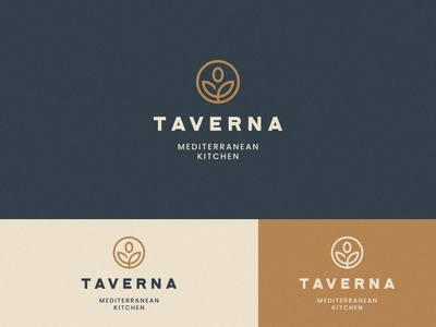 Taverna Logo Design food restaurant natural mediterranean olive print logo design brand identity symbol icon minimal brand logodesign branding design logo
