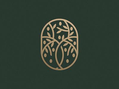 Olive Tree Concept restaurant tree olive print logo design brand identity symbol icon minimal brand logodesign branding design logo