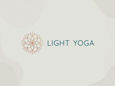 Light Yoga Logo Design meditation flowers floral mandala yoga light logo design brand identity symbol icon minimal brand logodesign branding design logo