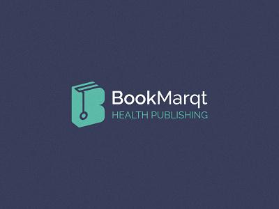 BookMarqt green b letter stethoscope health medicine logo design brand identity minimal logodesign branding