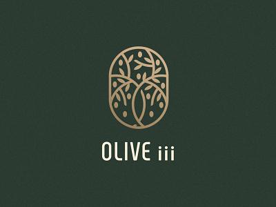 Olive iii Logo Design gold foil olive oil olive tree olive print vector logo design brand identity symbol icon brand minimal logodesign design branding logo