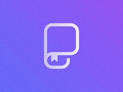 P + Book Logo Mark reading read p letter logo p letter logo design brand identity symbol icon brand minimal logodesign design branding logo