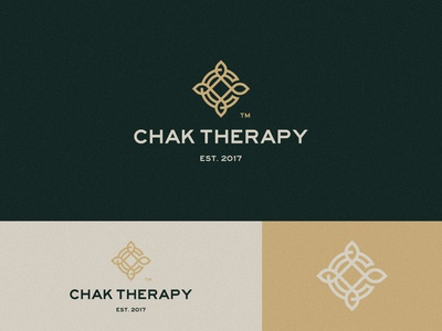Chak Therapy clean flower c letter therapy yoga studio meditation chakra logo design brand identity symbol icon brand minimal logodesign design branding logo