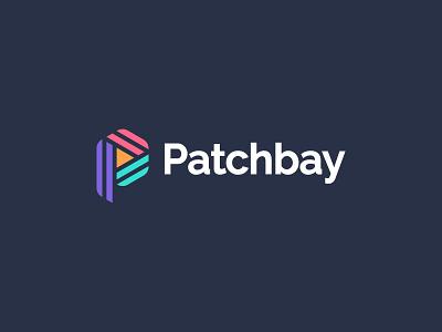 Patchbay Logo Design hexagon pletter colorful color music play logo design brand identity symbol icon brand minimal logodesign design branding logo